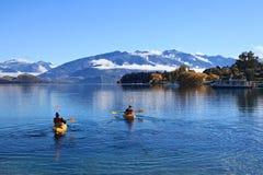 Meer Wanaka, Zuideneiland Nieuw Zeeland Stock Foto's