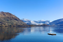 Meer Wanaka, Zuideneiland Nieuw Zeeland Royalty-vrije Stock Fotografie