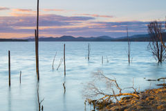 Meer Wivenhoe in Queensland in de loop van de dag Stock Afbeelding