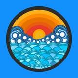 Meer, Wolken und Sonne, kreativ stock abbildung