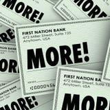 Meer Word Controles verhogen de Toegevoegde Betaling van het Inkomensgeld royalty-vrije illustratie