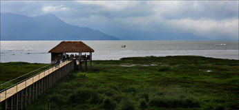 Meer Yojoa, Nationaal park in Honduras, Midden-Amerika, vakantie Stock Foto's