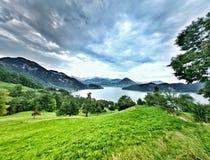 Meer in Zwitserland Royalty-vrije Stock Foto's
