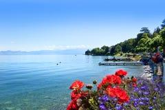 Meer Zwitsers Genève, stock afbeeldingen