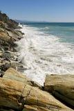 Meerblick auf der Küste von Varazze lizenzfreies stockbild