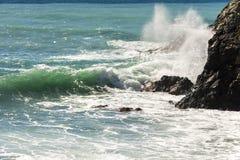 Meerblick auf der Küste von Varazze stockfotos