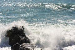 Meerblick auf der Küste von Varazze lizenzfreie stockbilder