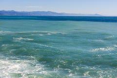 Meerblick auf der Küste von Varazze lizenzfreie stockfotografie