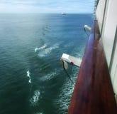 Meerblick auf der Kreuzfahrt stockfoto