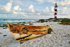 Meerblick in Cancun, Mexiko Stockbild
