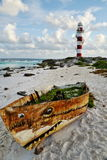 Meerblick in Cancun, Mexiko Lizenzfreies Stockfoto