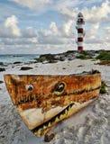 Meerblick in Cancun, Mexiko Lizenzfreie Stockfotos
