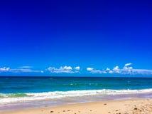 Meerblick des Strandes in Süd-Florida lizenzfreie stockfotos
