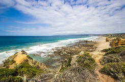 Meerblick, große Ozean Straße Australiens, Lizenzfreie Stockfotografie