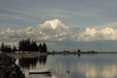 Meerblick - Hafen MacDonnell-Wellenbrecher Lizenzfreie Stockfotografie