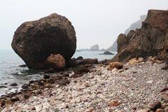 Meerblick im Nebel. Foto 3653 Lizenzfreie Stockfotos