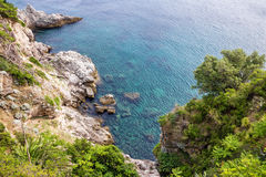 Meerblick Kroatiens, Dubrovnik, adriatische Seeküste Stockfotografie