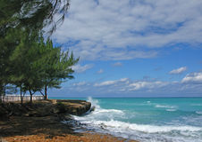 Meerblick. Kuba. Varadero. lizenzfreie stockbilder