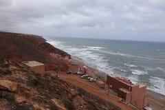 Meerblick, Legzira in Marokko Lizenzfreie Stockbilder