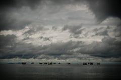 Meerblick - Meer, Strand, Wellen, Himmel, Wolken Stockbild