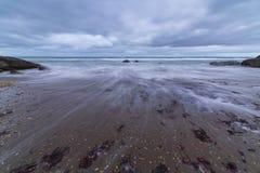 Meerblick, Meer vor dem Sturm Stockbilder