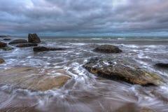 Meerblick, Meer vor dem Sturm Stockbild