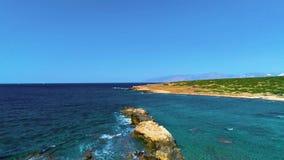 Meerblick mit Insel stock video