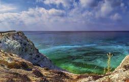 Meerblick nahe Paphos stockfotografie