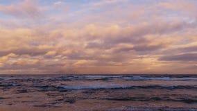 Meerblick-Sonnenuntergang-Ozean stock video footage