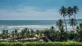Meerblick-tropische Sri Lanka-Ansicht Timelapse 4k stock video footage