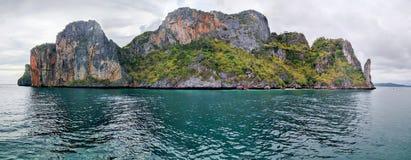 Meerblick um Maya Bay Stockbild