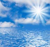 Meerblick und Himmel-Hintergrund Lizenzfreie Stockbilder