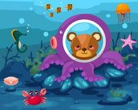 Meerblick Unterwasser Lizenzfreie Stockfotografie