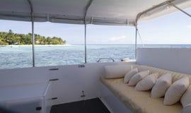 Meerblick vom Hausboot Lizenzfreie Stockfotos