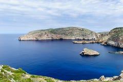 Meerblick von Cabrera-Insel stockfotos