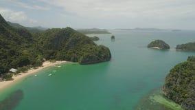 Meerblick von Caramoan-Inseln, Camarines Sur, Philippinen stockbilder