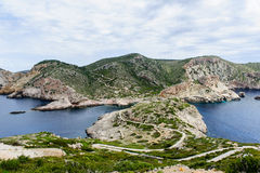 Meerblick von Formentera-Insel stockbilder