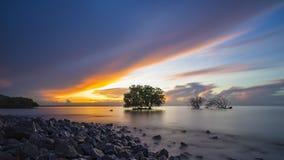 Meerblick vor Sonnenaufgang Lizenzfreie Stockbilder