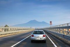 Meerblickansicht des Vulkans Vizuvy 2 Lizenzfreies Stockbild