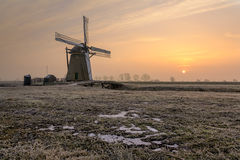 Meerburgermolen. The Meerburgermolen during a wintery sunrise Royalty Free Stock Photos