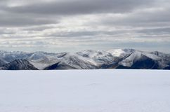 Meerdistrict in de winter royalty-vrije stock fotografie