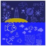 Meeresflora und -fauna Lizenzfreie Stockfotografie
