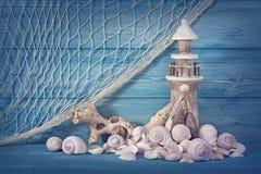Meeresflora und -fauna-Dekoration Lizenzfreies Stockbild