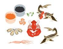 Meeresfrüchte Stock Abbildung