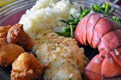 Meeresfrüchte-Abendessen Lizenzfreie Stockbilder