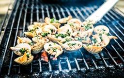 Meeresfrüchte BBQ Lizenzfreie Stockbilder