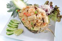 Meeresfrüchte des gebratenen Reises der Ananas Lizenzfreies Stockbild