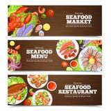 Meeresfrüchte-Fahnen-Design stock abbildung