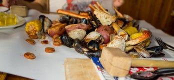 Meeresfrüchte-Fest Stockbild