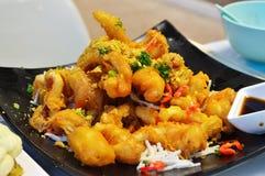 Meeresfrüchte gebratener Calamari Stockbild